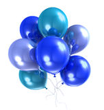 3d color helium balloon. On white backround Royalty Free Stock Images
