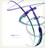 3D color lines. This is file of EPS10 format Royalty Free Stock Images