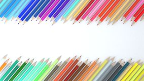 3d Color Pencil On White Background Stock Images