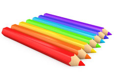 3d color pencils isolated Stock Photos