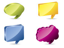 3d color speech bubbles Stock Images
