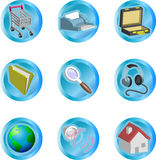 3d color web and internet icon set Royalty Free Stock Image