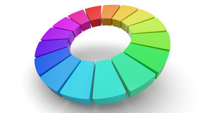 3d color wheel. Computer rendering of a 3D color wheel  on white Stock Image
