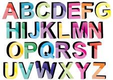 3d colora le fonti tipografiche Immagine Stock Libera da Diritti