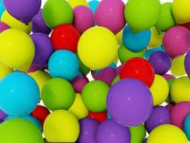 3d colored air baloons Royalty Free Stock Photos