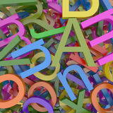 3D Colored Alphabet Royalty Free Stock Images