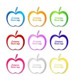 3D colored apple logo. For business Royalty Free Stock Photos