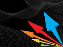 3d colored arrow background stock illustration