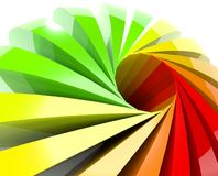 3d colored ball. Background gradient Stock Images