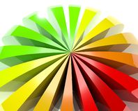 3d colored ball background. 3d gradient colored ball background Stock Image