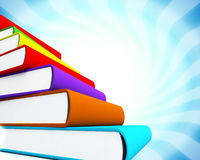 3d colored books massive for design. 3d colored books massive for great design Royalty Free Stock Photo