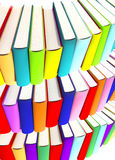 3d colored books massive for design Stock Photo
