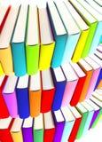 3d colored books massive for design. 3d colored books massive for great design Stock Photo