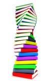 3d colored books massive for design. 3d colored books massive for great design Royalty Free Stock Photography