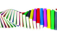 3d colored books massive for design. 3d colored books massive for great design Royalty Free Stock Images