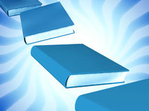 3d colored books massive for design Royalty Free Stock Image