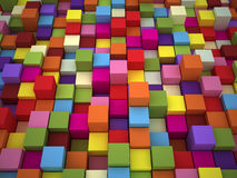 3D Colored Boxes Royalty Free Stock Image