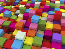 3D Colored Boxes. 3D Render Generated  Colored Boxes Stock Photo