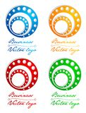 3D colored circle in circle logo Stock Photography