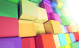 3d colored cubes background stock illustration