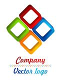 3D colored diamond logo Stock Photo