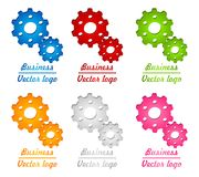 3D colored gear logo. For company, work or fun Stock Photos