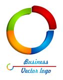 3D colored half circle logo. For your company, work Stock Images