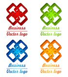 3D colored rhombus logo Royalty Free Stock Photos