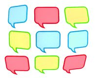 3d colored speech bubbles Stock Image