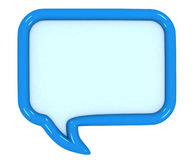 3d colored speech bubbles. On white background Royalty Free Stock Image