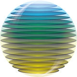 3d colored sphere. 3d colored abstract  sphere Royalty Free Stock Photos
