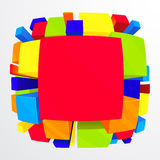 3d colorful abstract background Stock Photography