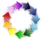 3d colorful abstract circular arrows Royalty Free Stock Photos