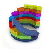 3d colorful abstract diagram and arrow Stock Photography