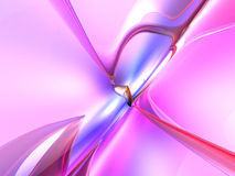 3D Colorful Abstract Render Pink Background Royalty Free Stock Photo