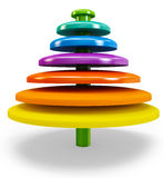 3d colorful abstract shape Stock Image