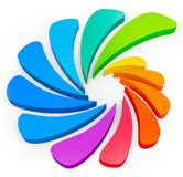 3d colorful abstract shape Stock Photo