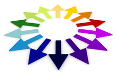 3d colorful arrows Royalty Free Stock Images