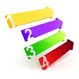 3d colorful arrows. On white background Stock Photos