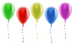3d colorful balloons Royalty Free Stock Image