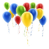 3d colorful balloons Royalty Free Stock Images