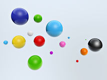 3d colorful balls Stock Photography