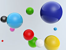 3d colorful balls Stock Photo