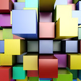 3d colorful blocks. 3d colorful bright blocks background Royalty Free Stock Images
