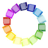3d colorful cubes. On white background royalty free illustration