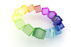 3d colorful cubes Royalty Free Stock Photography