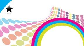 3d colorful dot halftone retro απεικόνιση αποθεμάτων
