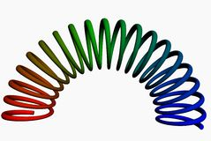3d colorful elongated spring Stock Photo