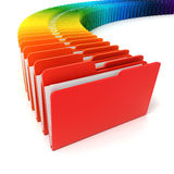 3d colorful folders Royalty Free Stock Image