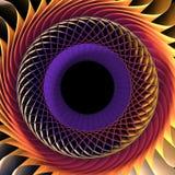 3D Colorful Fractal Background Stock Image
